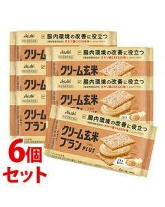 《セット販売》アサヒクリーム玄米ブランプラスごま&塩バター(72g)×6個セット機能性表示食品