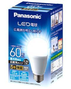 パナソニック LED電球 E26口金 一般電球 LDA7DGEW (1個) 昼光色 広配光 60形相当