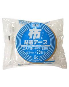 カモ井加工紙 DN2 布粘着テープ 丈夫で使いやすい包装用 幅50mm×25m巻 (1個) 梱包用テープ