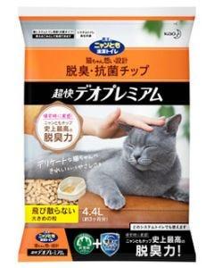花王ニャンとも清潔トイレ脱臭・抗菌チップ超快デオプレミアム大きめの粒(4.4L)猫用トイレ砂猫砂