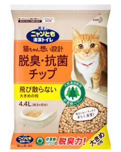 花王ニャンとも清潔トイレ脱臭・抗菌チップ大きめの粒(4.4L)猫用トイレ砂猫砂