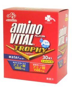 くらしリズム 味の素 アミノバイタル トロフィー ウォーター すっきりレモン味 500mL用 (15g×30本) 水で溶かす粉末タイプ クエン酸5000mg アミノ酸1500mg