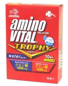 くらしリズム 味の素 アミノバイタル トロフィー ウォーター すっきりレモン味 500mL用 (15g×10本) 水で溶かす粉末タイプ クエン酸5000mg アミノ酸1500mg