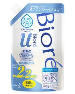 花王ビオレuザボディジェルタイプピュアリーサボンの香り大サイズつめかえ用(750mL)詰め替え用ボディウォッシュ
