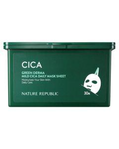 ネイチャーリパブリック グリーンダーマ CICA デイリーシートマスク (30枚) フェイスマスク パック NATURE REPUBLIC
