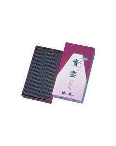 日本香堂 けむりの少ない お線香 青雲 バイオレット バラ詰 (155g)