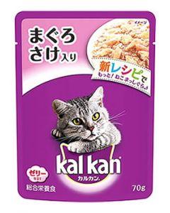 【特売セール】 マースジャパン カルカン パウチ 1歳から まぐろ さけ入り ゼリー仕立て (70g) 成猫用 キャットフード