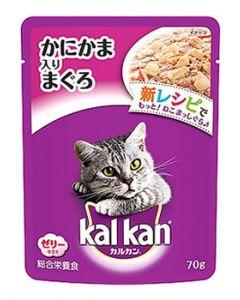【特売セール】 マースジャパン カルカン パウチ 1歳から かにかま入りまぐろ ゼリー仕立て (70g) 成猫用 キャットフード