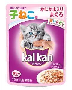 【特売セール】 マースジャパン カルカン パウチ 12ヵ月までの子ねこ用 かにかま入りまぐろ (70g) 子猫用 キャットフード ウェット