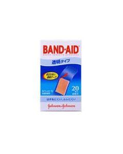 救急絆創膏 バンドエイド 透明タイプ (20枚入り)