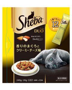 【特売セール】 マースジャパン シーバ デュオ 成猫用 香りのまぐろとクリーミーチーズ味 (20g×12袋) キャットフード