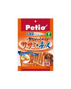 ペティオ おなかにうれしい ササミとチーズ 【全犬種用 間食用】 (170g)