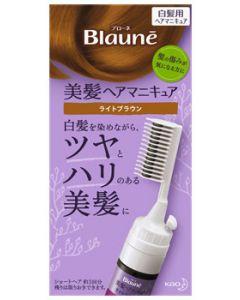 【特売セール】 花王 ブローネ ヘアマニキュア ライトブラウン クシ付 本体 (1セット) 白髪染め