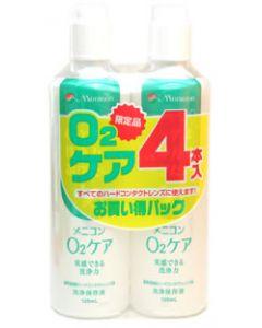 メニコン O2ケア 【ハードコンタクトレンズ用洗浄保存液】 (120ml×4本入)