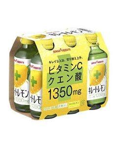 ポッカサッポロ キレートレモン (155mL×6本) 炭酸入り クエン酸 ビタミンC ポッカ ※軽減税率対象商品