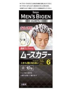 ホーユー メンズビゲン ムースカラー 簡単ワンプッシュ 白髪用 6 ダークブラウン