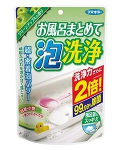 フマキラー お風呂まとめて泡洗浄 グリーンアップルの香り (230g) 1回分 使いきりタイプ