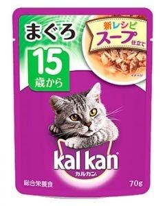 マースジャパン カルカン パウチ まぐろ スープ仕立て 15歳から (70g) キャットフード
