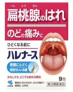 【第3類医薬品】【☆】 小林製薬 ハレナース (9包) 顆粒 のどの痛み