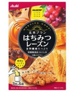 アサヒ バランスアップ 玄米ブラン はちみつレーズン (3枚×5袋) 栄養機能食品 ※軽減税率対象商品