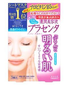 コーセー クリアターン ホワイト マスク プラセンタ (5回分) 浸透ホワイトマスク