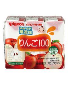 【特売セール】 ピジョン ベビー飲料 りんご100 5・6ヶ月頃から (125mL×3個パック) ※軽減税率対象商品