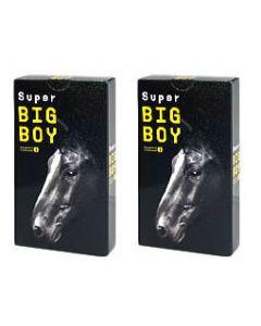 《セット販売》 オカモト スーパービッグボーイ ブラック (12個入)×2個セット コンドーム 【送料無料】