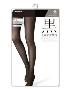 アツギ ATSUGI アスティーグ 黒 ピュアブラックタイツ 16 ディープブラック FP6199 40デニール M-Lサイズ (1足)