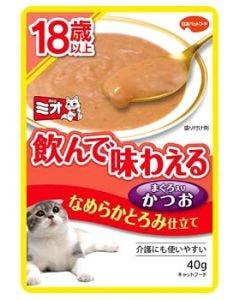 日本ペットフード mio ミオ レトルト 18歳以上 なめらかとろみ かつお (40g) キャットフード ウェット