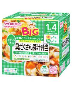 和光堂 ビッグサイズの栄養マルシェ 具だくさん豚汁弁当 彩り野菜の豚丼 具だくさん豚汁 1歳4ヶ月頃〜 (130g+80g) ベビーフード セット ※軽減税率対象商品