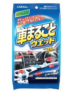 晴香堂 カーオール 車まるごとウェット 2008 (30枚入) 車用マルチクリーナー カークリーナー