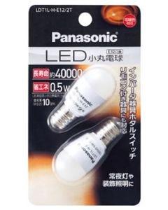 パナソニック LED小丸電球 0.5W 電球色相当 LED電球 小丸電球タイプ E12口金 LDT1LHE122T (2個入)
