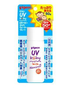 ピジョン UVベビーミルク ウォータープルーフ SPF50+ PA++++ 顔・からだ用 (50g)