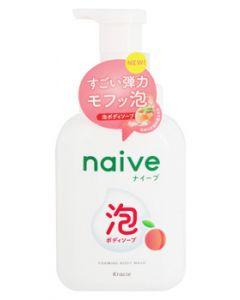 クラシエ ナイーブ 泡で出てくる ボディソープ フルーティフローラルの香り ジャンボ (500mL) 桃の葉エキス