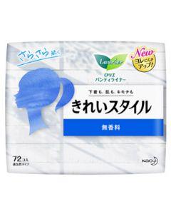 花王 ロリエ きれいスタイル 無香料 (72コ入) パンティライナー
