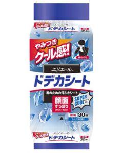 エリエール forMEN フォーメン ドデカシート 男のための汗ふきシート スーパークール メントールタイプ シトラスの香り 徳用 (30枚)