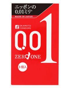 【即納】 【☆】 オカモト ゼロワン 001 (3個入) コンドーム 0.01mm