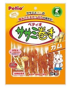 ヤマヒサ ペティオ ササミ巻きガム (10本入) 全犬種 間食用