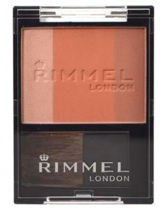 RIMMEL リンメル スリーインワン モデリングフェイスブラッシュ 005 アプリコットオレンジ (5g) ハイライト チーク シューディング
