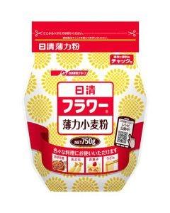 日清製粉 日清 フラワー チャック付 (750g) 薄力小麦粉 薄力粉 ※軽減税率対象商品
