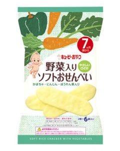 【特売セール】 キューピー おやつ 野菜入りソフトおせんべい 7ヶ月頃から (2枚×6袋入り) ※軽減税率対象商品