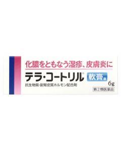 【第(2)類医薬品】武田薬品 タケダ テラ・コートリル軟膏a (6g) 化膿をともなう湿疹、皮膚炎に