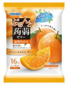 オリヒロ ぷるんと蒟蒻ゼリーパウチ 温州みかん (20g×6個)