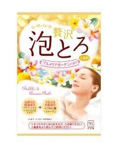 牛乳石鹸 お湯物語 贅沢泡とろ 入浴料 プルメリアガーデンの香り (30g) 入浴剤
