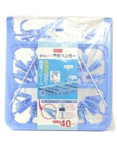 エムズワン 折りたたみ 角型ハンガー 洗濯ピンチ 40コ付 (1個) ハンガー