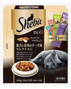 【特売セール】 マースジャパン シーバ デュオ 成猫用 魚介とお肉のチーズ味セレクション (240g) ドライ キャットフード