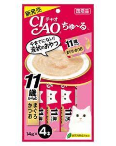 【特売セール】 いなばペットフード CIAO チャオ ちゅ~る 11歳からのまぐろ・かつお (14g×4本)