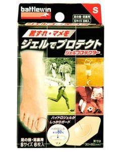 ニチバン バトルウィン ジェルプロテクター 足の指・足裏用 Sサイズ GP6S (6枚) 絆創膏 まめ 靴擦れ