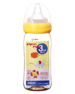 ピジョン 母乳実感 哺乳びん プラスチック 240mL アニマル柄 3ヶ月頃から (1個)