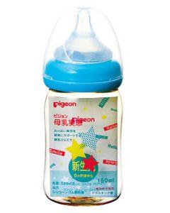ピジョン 母乳実感 哺乳びん プラスチック 160mL スター柄 新生児 0ヶ月頃から (1個)